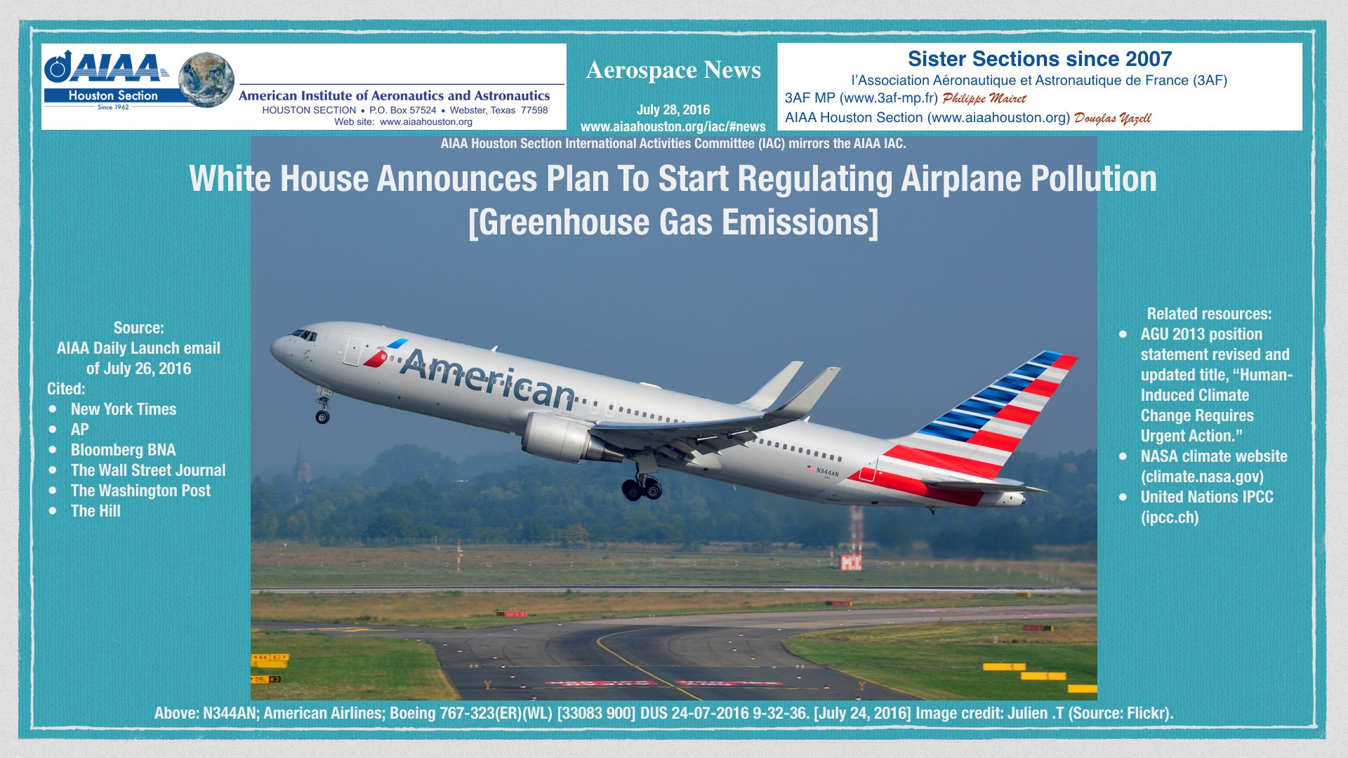 Above: White House Announces Plan To Start Regulating Airplane Pollution [Greenhouse Gas Emissions]. Image credit: Julien .T (Flickr). (Click to zoom.)