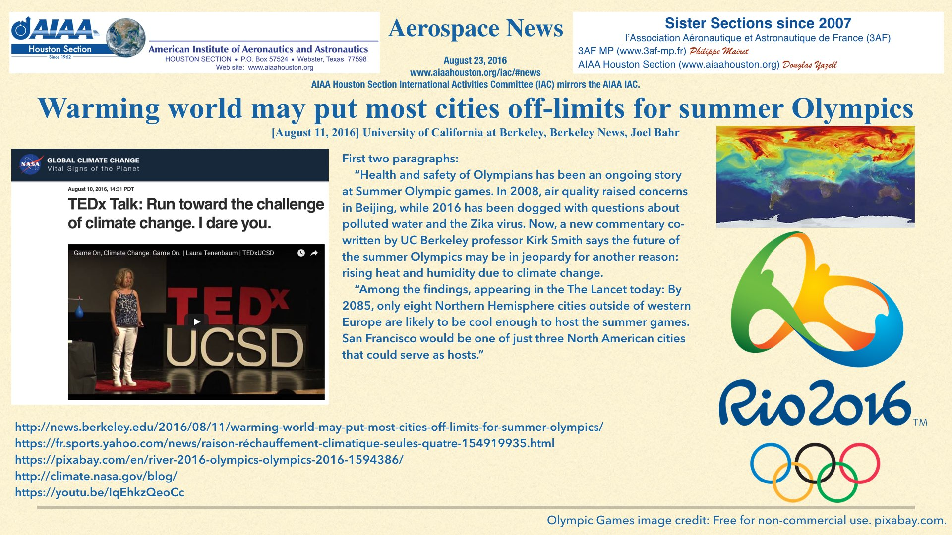 Above: Warming world may put most cities off-limits for summer Olympics. (Click to zoom.)