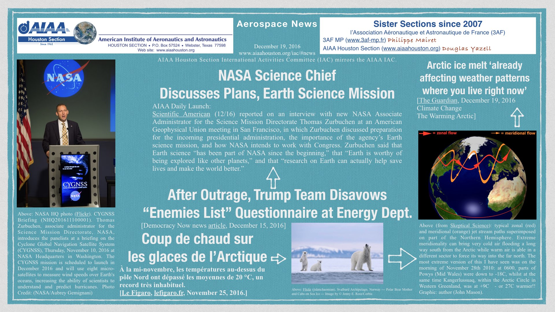 Above: NASA Science Chief Discusses Plans, Earth Science Mission. AIAA Daily Launch. Scientific American, December 16, 2016. (Click to zoom.)