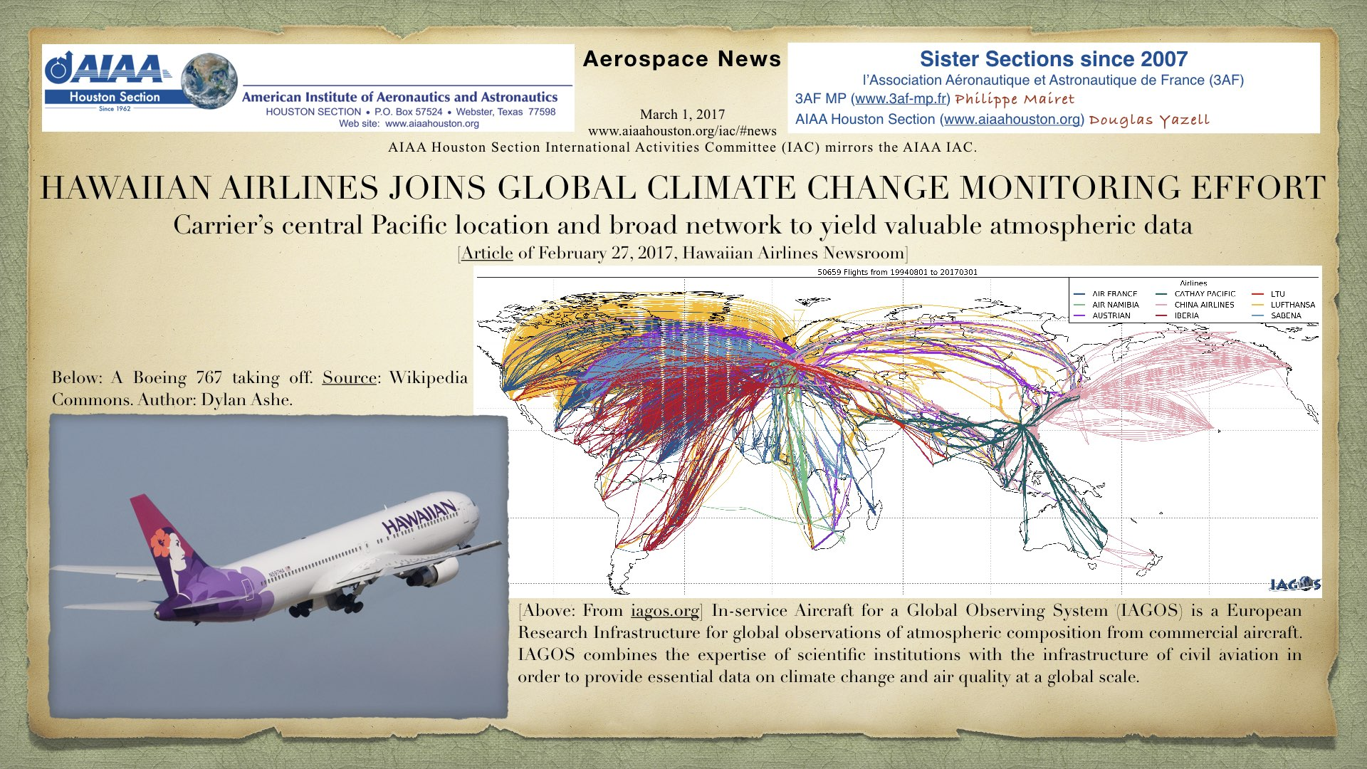Above: Hawaiian Airlines Joins Global Climate Change Monitoring Effort. (Click to zoom.)