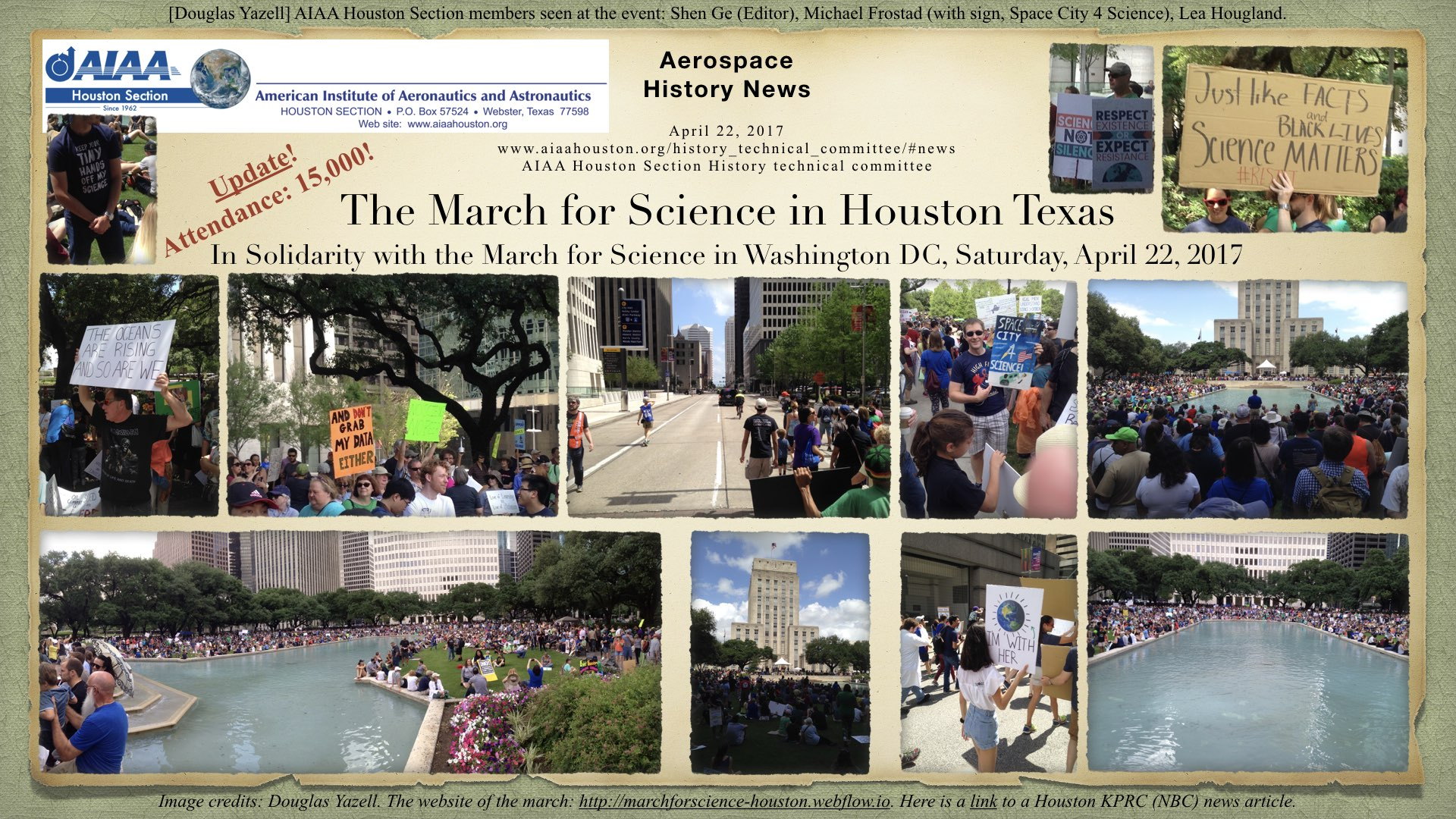 Above: March for Science - Houston. (Click to zoom.)