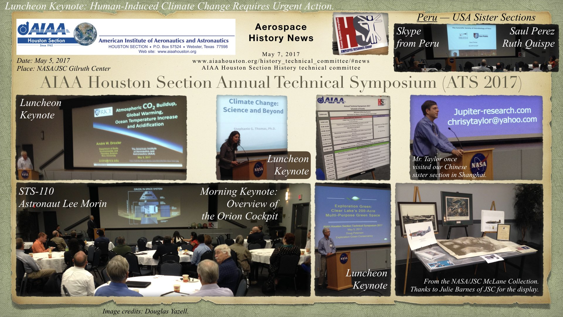 Above: AIAA Houston Section Annual Technical Symposium 2017. (Click to zoom.)