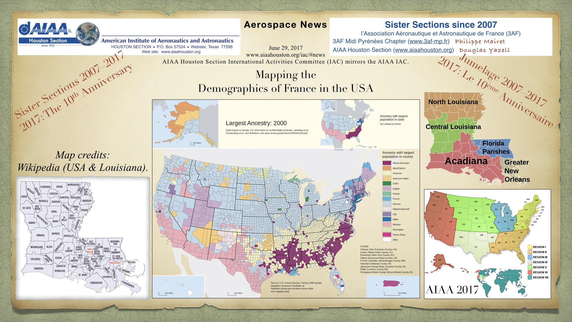 Above: Mapping the Demographics of France in the USA. (Click to zoom.)