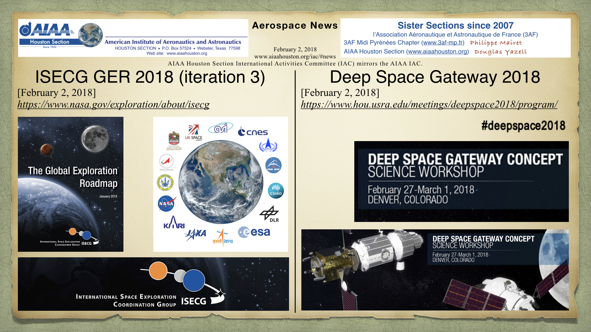Above: ISCEG GER 2018 and Deep Space Gateway 2018. Image credits: NASA, LPI, USRA. (Click to zoom.)