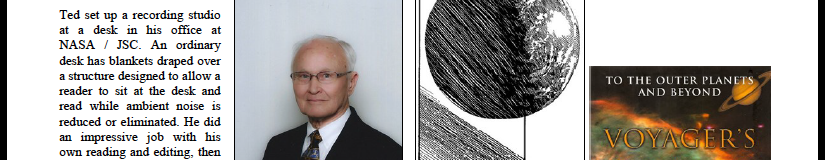 Above: A 2013 portrait of author Henry C. Dethloff is now (2015) available only in this small version, but we link here to the newsletter page where we used the portrait. As of November 2015, the audiobook project is still alive! (Click to see the entire newsletter page, Horizons_2013_03_and_04 page 49. Horizons is archived at www.aiaahouston.org/newsletter and an AIAA national website.)
