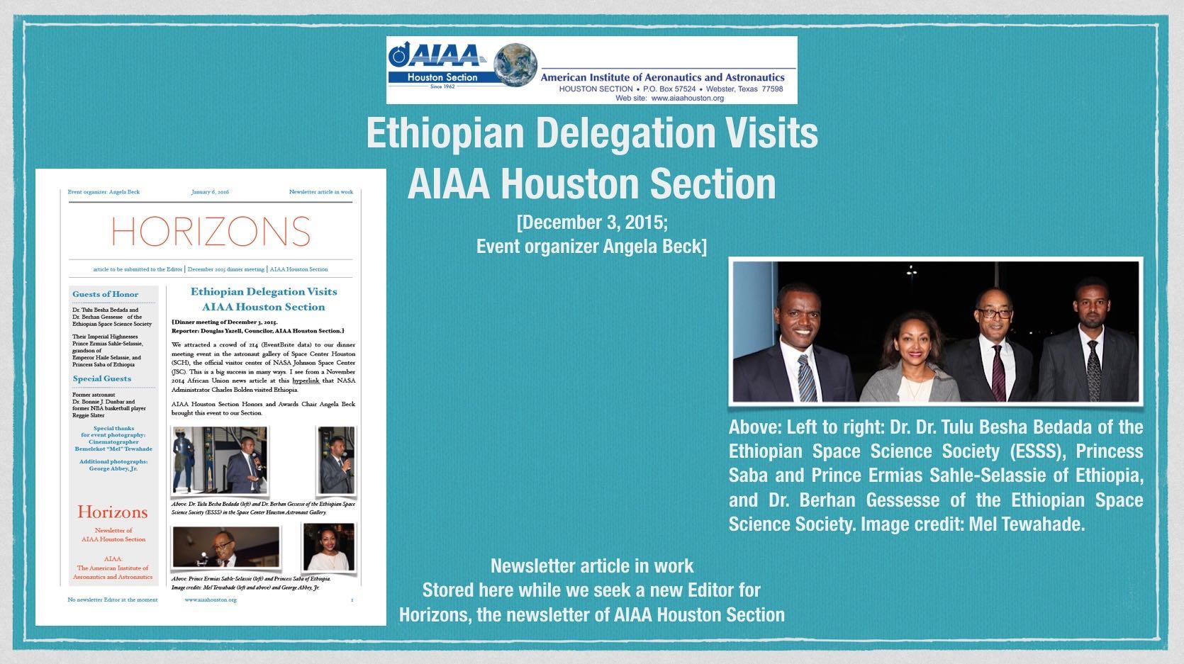 AIAA Houston Section International Activities Committee (IAC