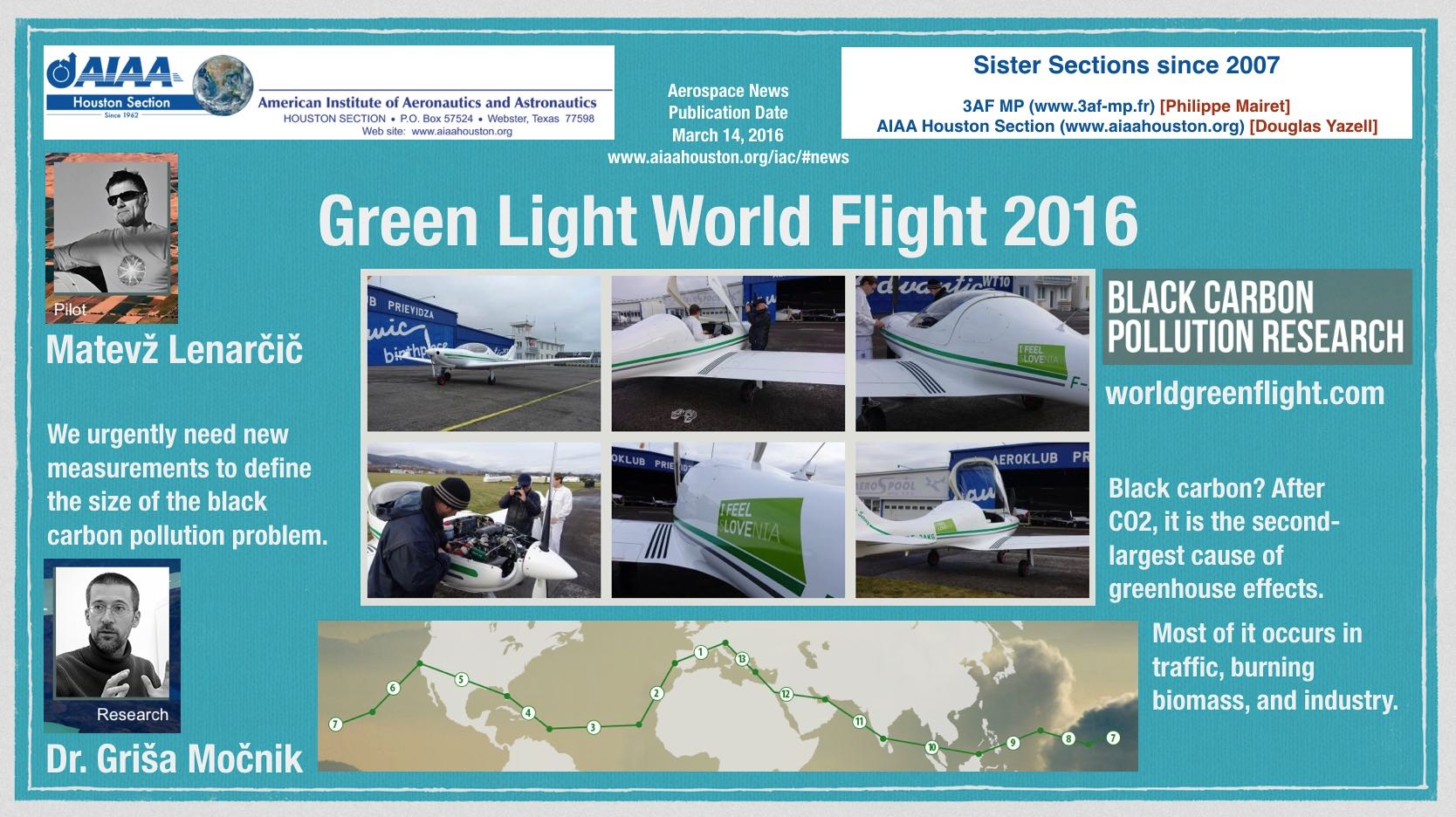 Above: Green Light World Flight 2016. (Click to zoom.)