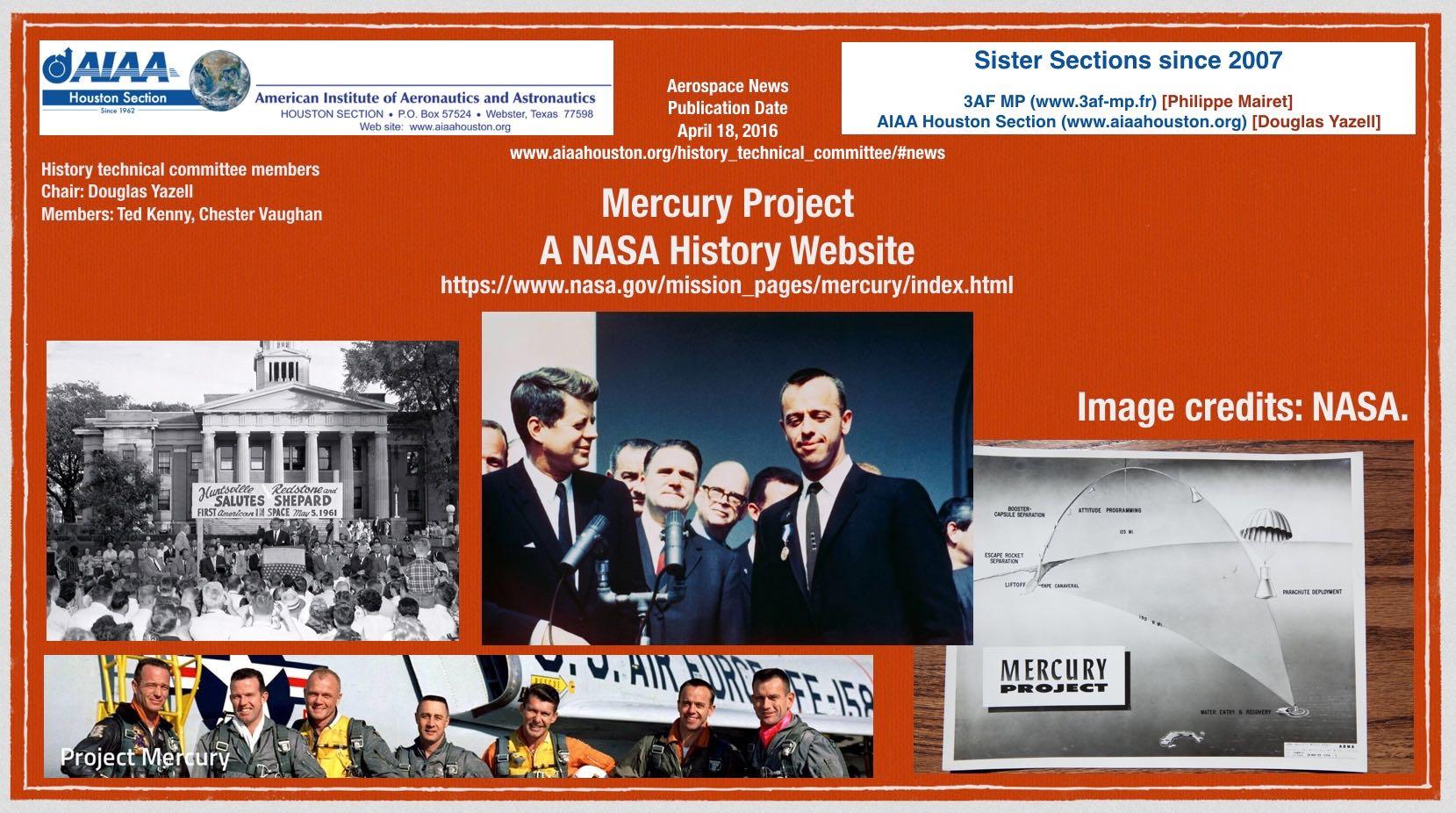 Above: A NASA Mercury Program history website. (Click to zoom.)