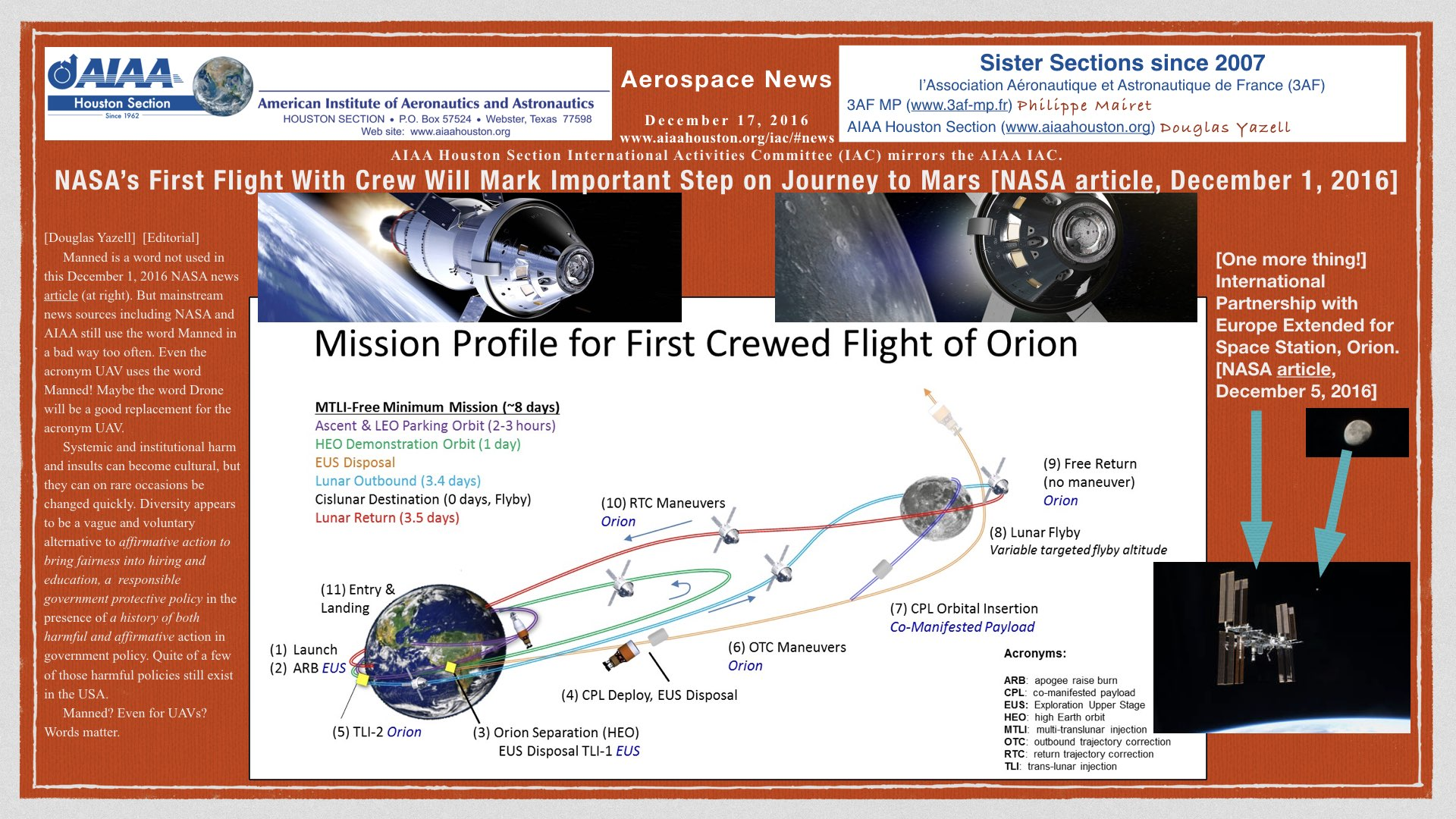 Above: NASA's First Flight With Crew Will Mark Important Step on Journey to Mars [NASA article, December 1, 2016]. (Click to zoom.)