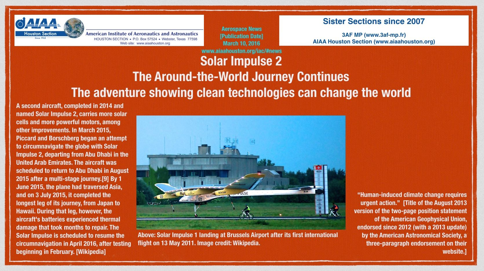 Above: Solar Impulse. Image credit: Wikipedia. (Click to zoom.)