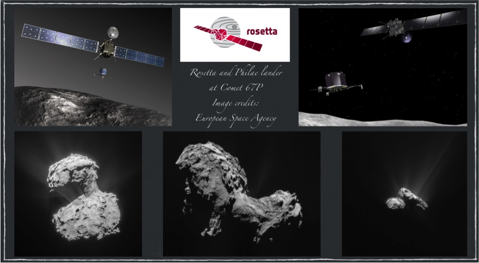 Rosetta and Philae - Image collection: Douglas Yazell. Image credits: The European Space Agency (ESA).