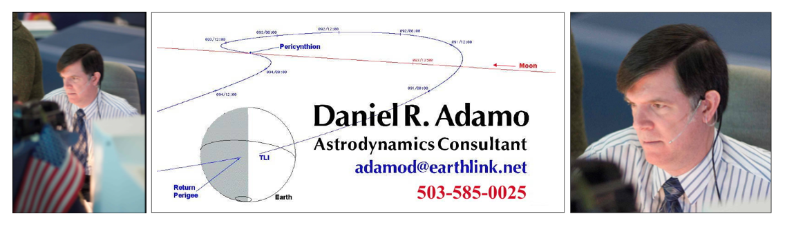 Above: An rough image of the business card (and ATIG email signature) of Mr. Adamo, with images of Mr. Adamo in Mission Control Center (MCC) at NASA Johnson Space Center (JSC). (Click to zoom.)